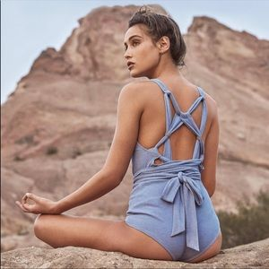 Free People Sun Salutation Bodysuit NWT